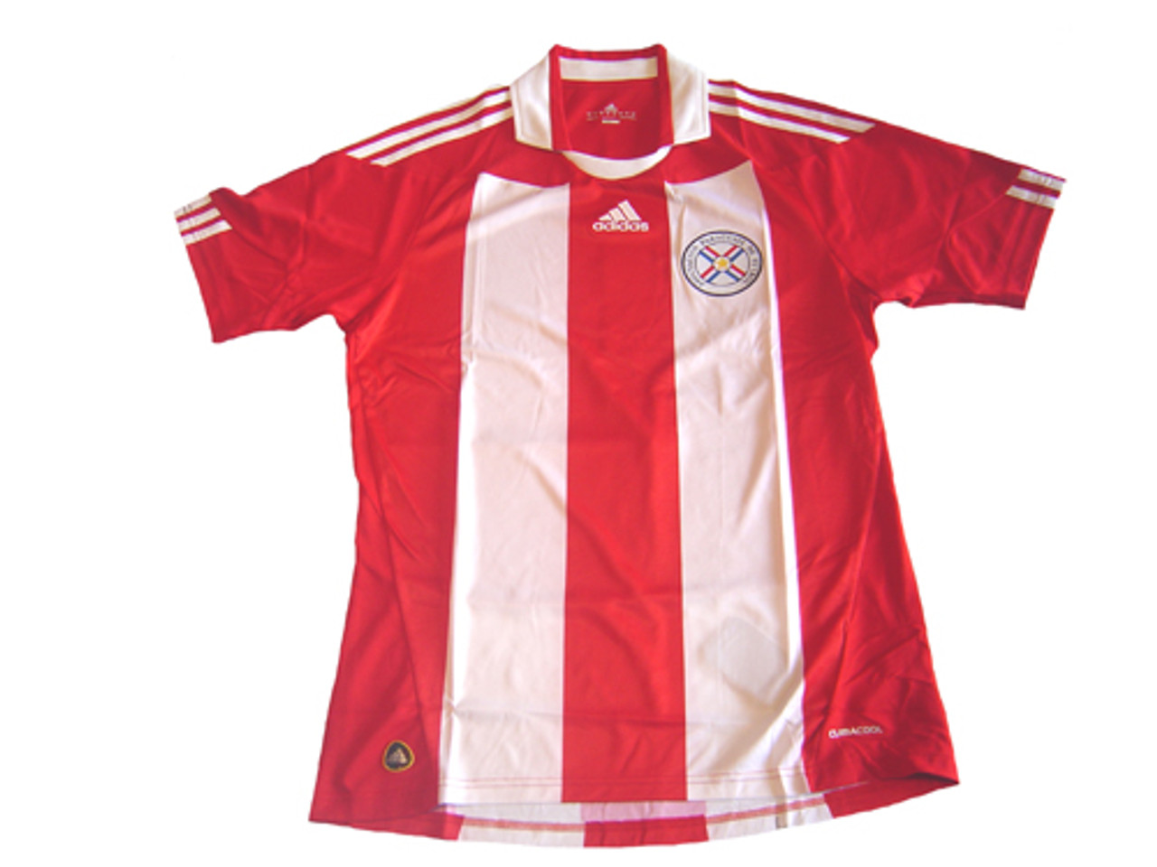 ADIDAS PARAGUAY 2010 HOME JERSEY WHITE/RED