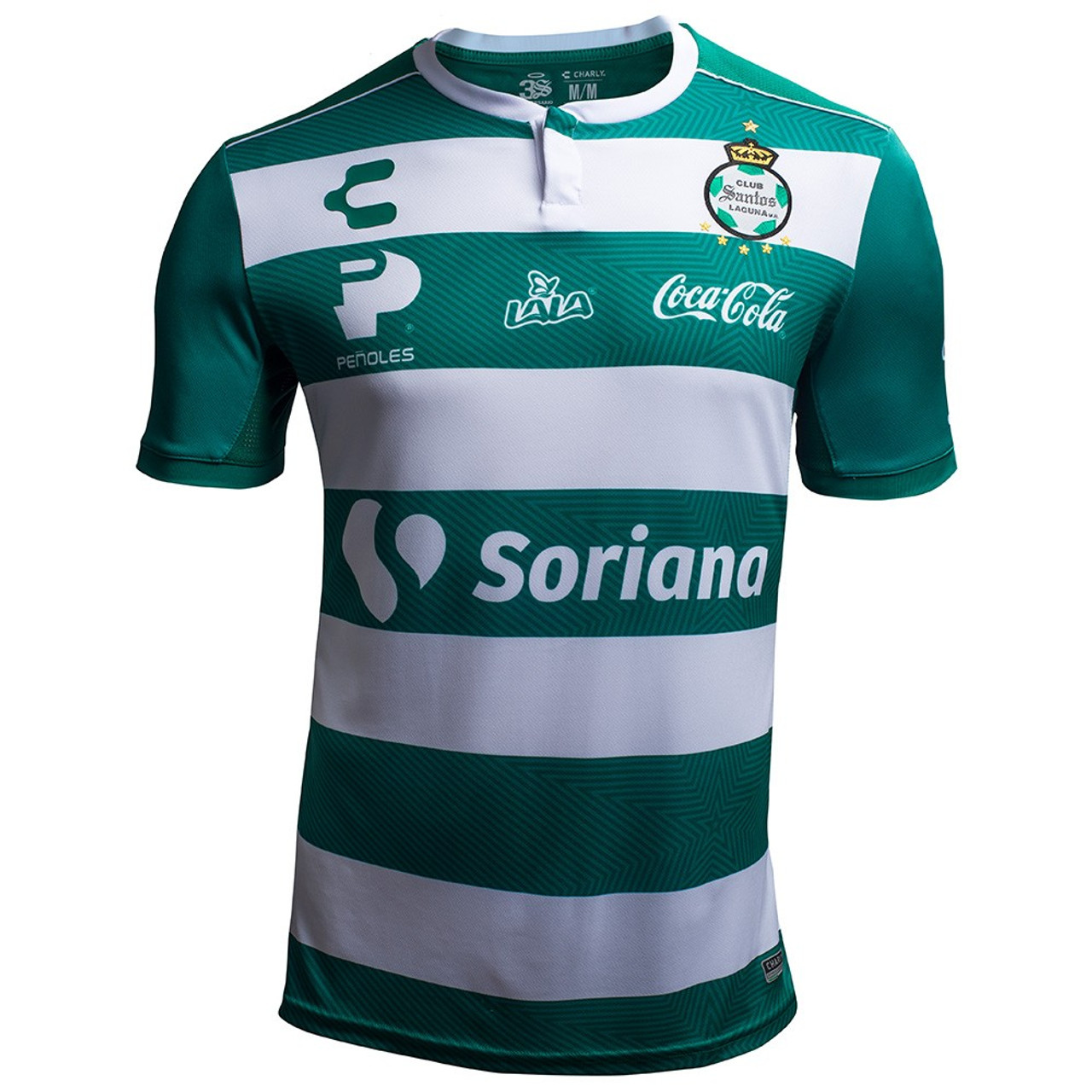 62ba7502549 CHARLY SANTOS LAGUNA 2019 HOME JERSEY - Soccer Plus