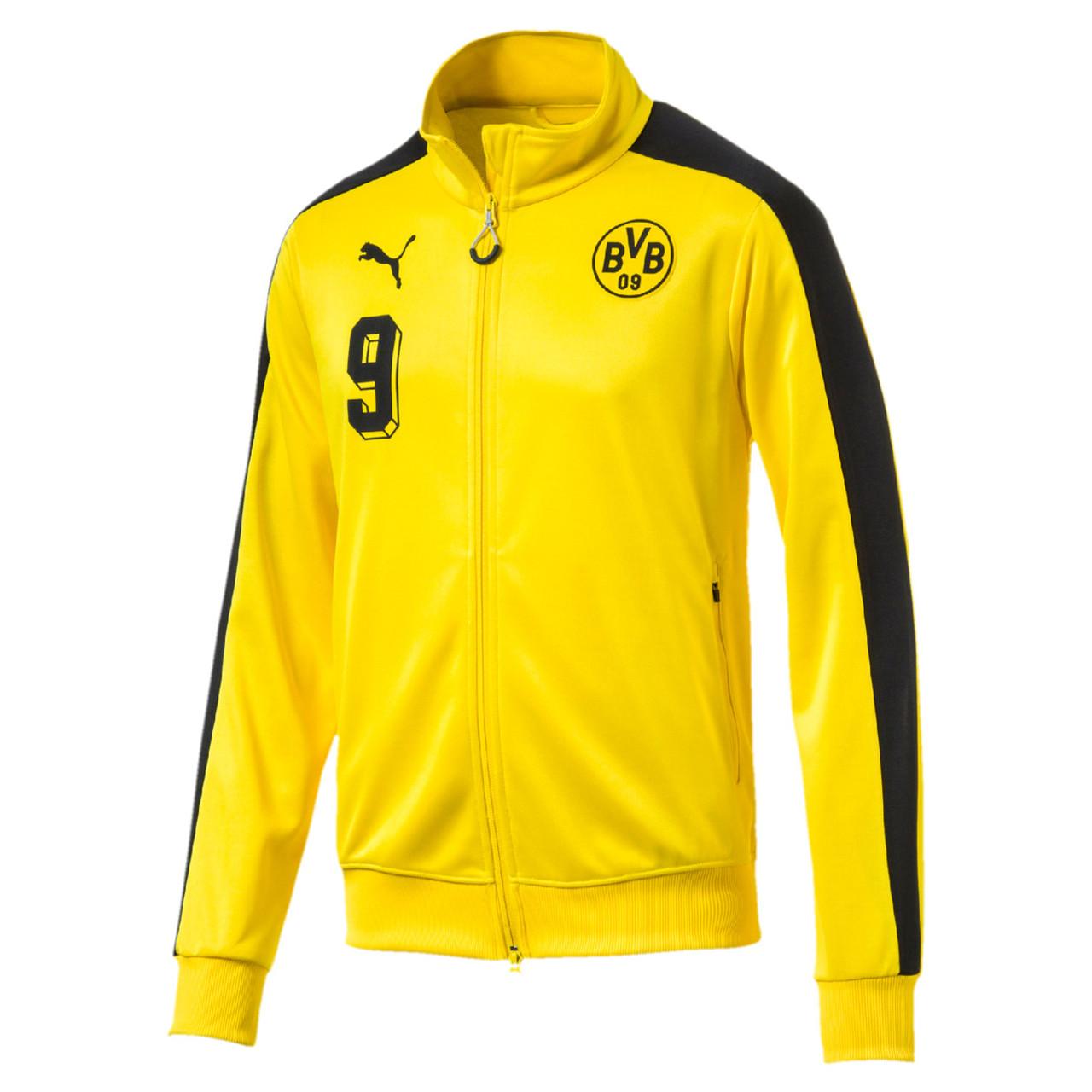 838b57ec729b PUMA BORUSSIA DORTMUND T7 JACKET Cyber Yellow - Soccer Plus
