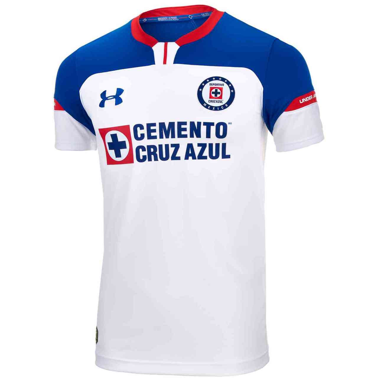 85f28ef2d3f UNDER ARMOUR CRUZ AZUL 2018 AWAY JERSEY WHITE - Soccer Plus