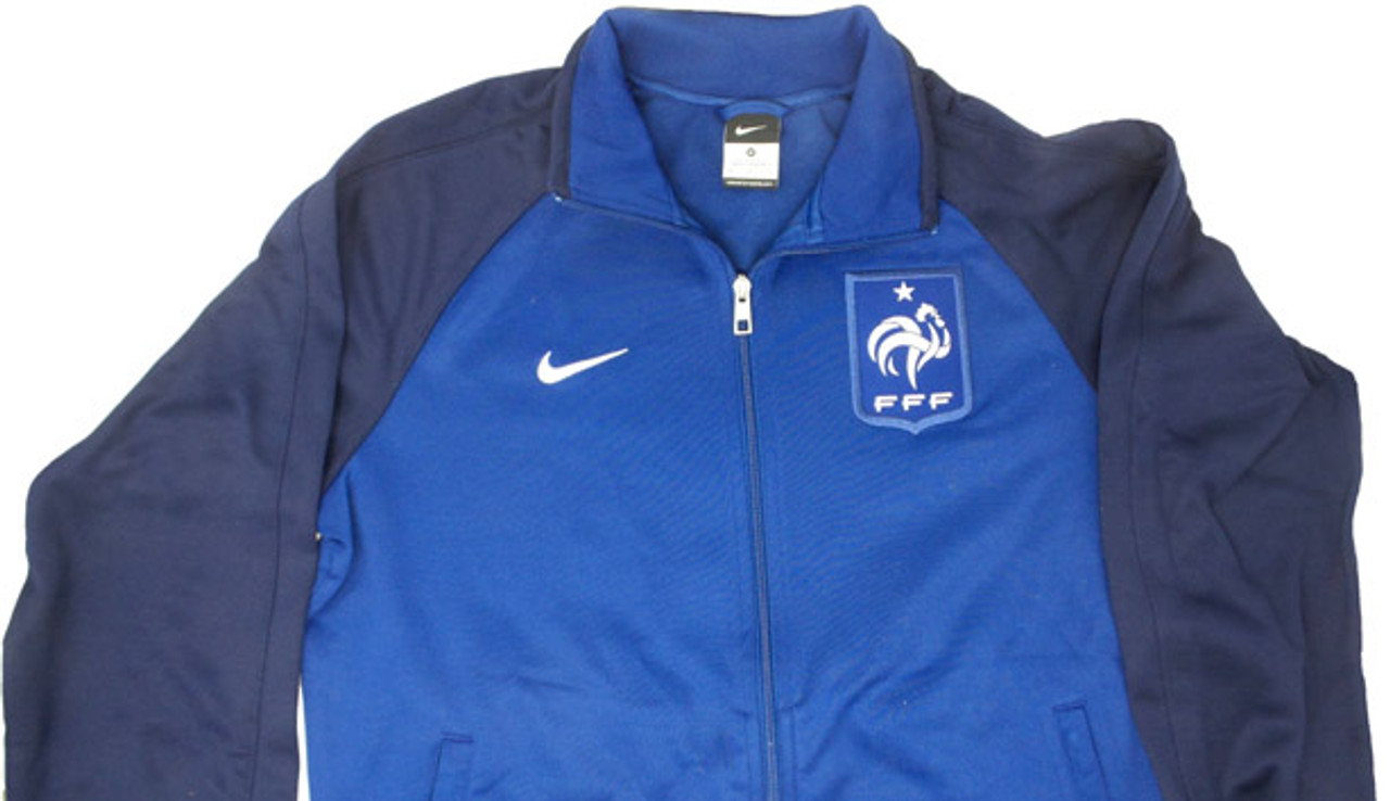 NIKE FRANCE 2014 ANTHEM JACKET NAVY BLUE