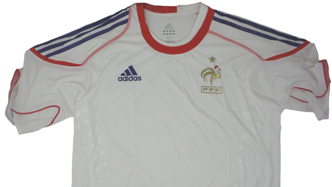 11a4afd0de9 ADIDAS FRANCE 2010 TRAINING JERSEY WHITE - Soccer Plus