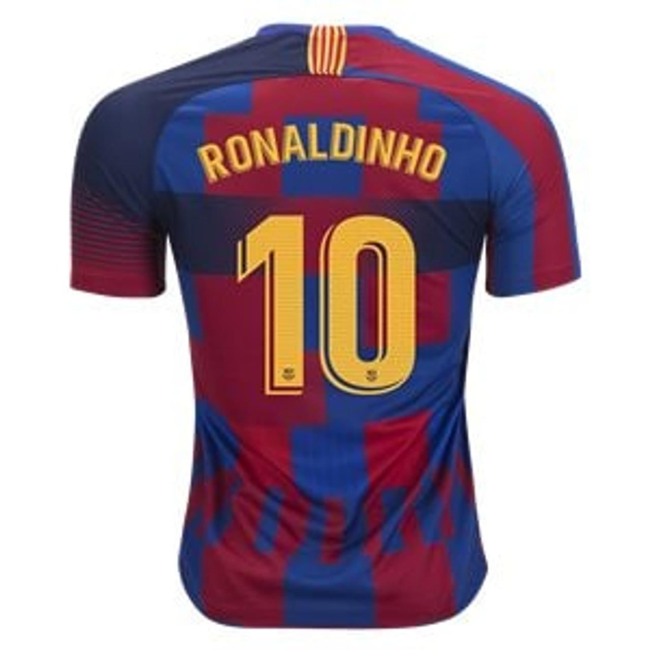 NIKE BARCELONA `RONALDINHO`20th Anniversary Jersey - Soccer Plus