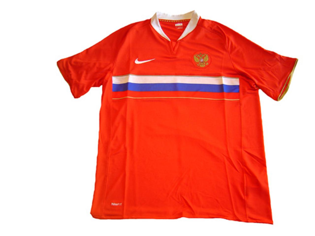 1506fa08e NIKE RUSSIA 2008 AWAY JERSEY RED - Soccer Plus