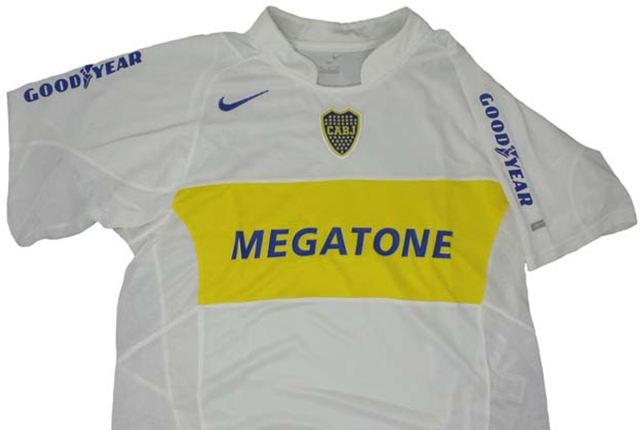 official photos c2d20 db1cf NIKE BOCA JUNIORS 2005 AWAY JERSEY WHITE