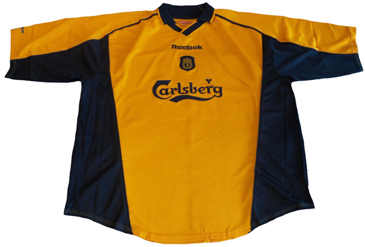official photos e2341 8886b REEBOK LIVERPOOL 2003 AWAY JERSEY GOLD