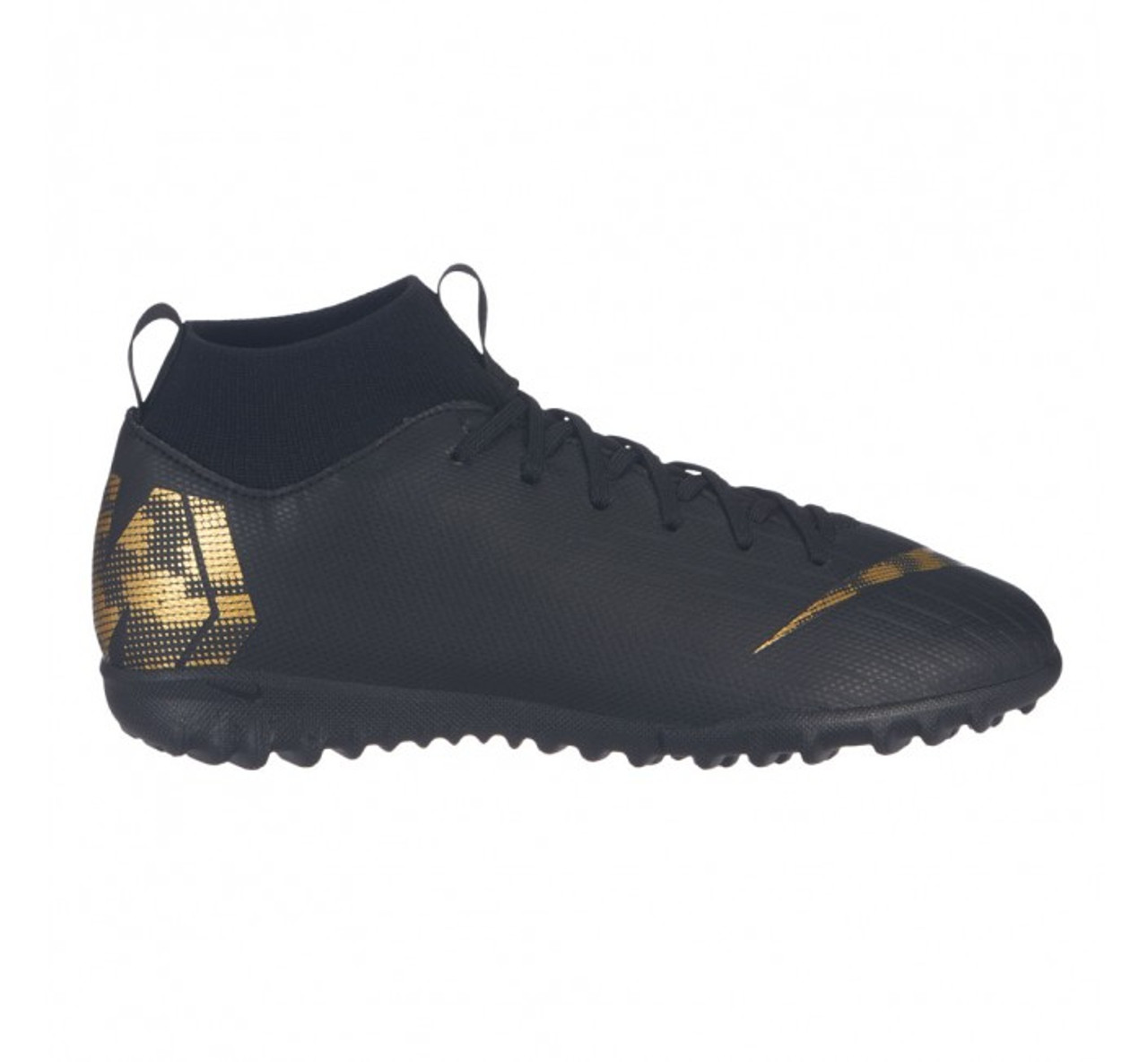 09d430350 NIKE JR SUPERFLY 6 ACADEMY GS TF Black/gold - Soccer Plus