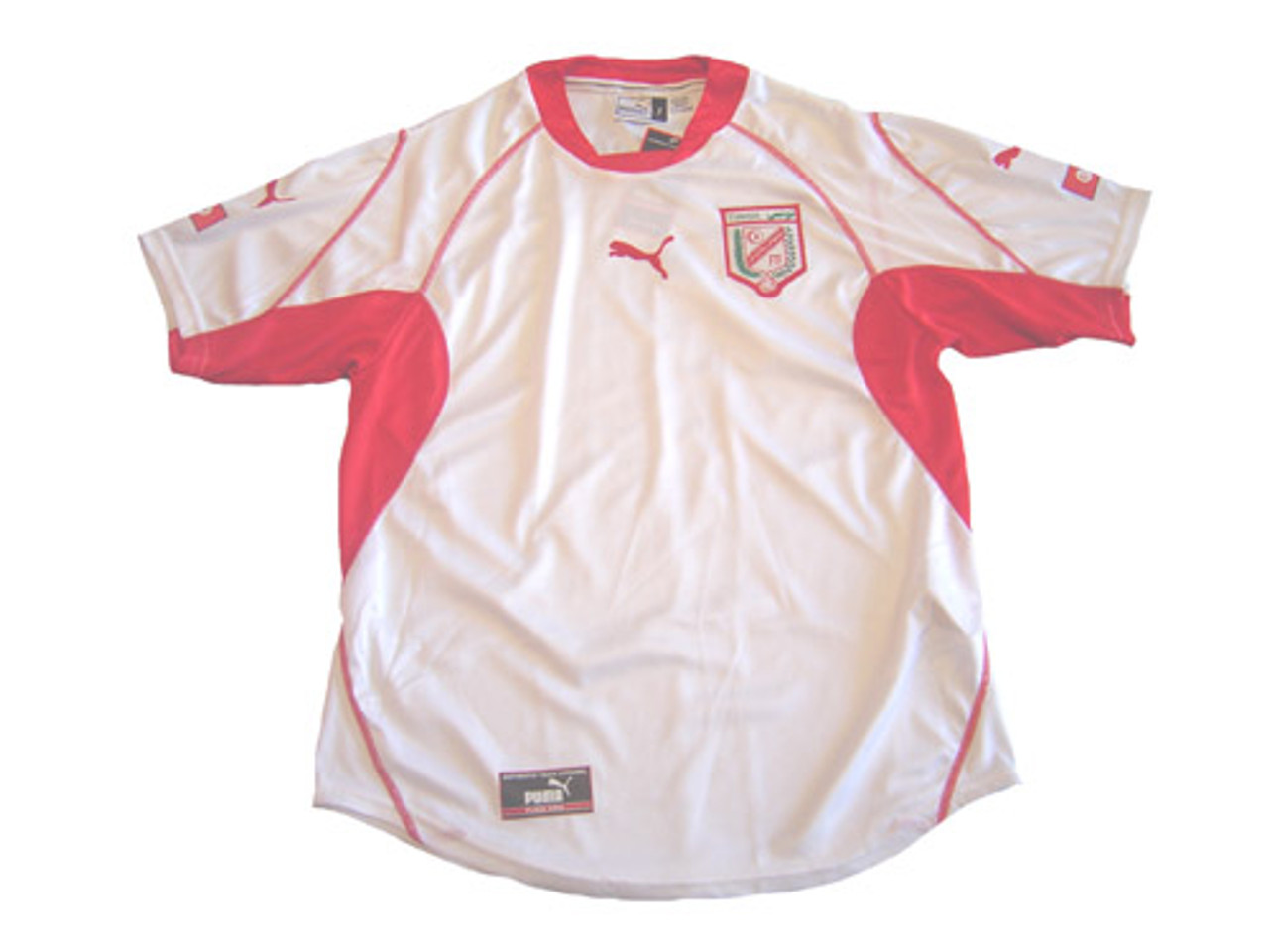 innovative design f5da5 ec804 PUMA TUNISIA 2003 HOME JERSEY WHITE