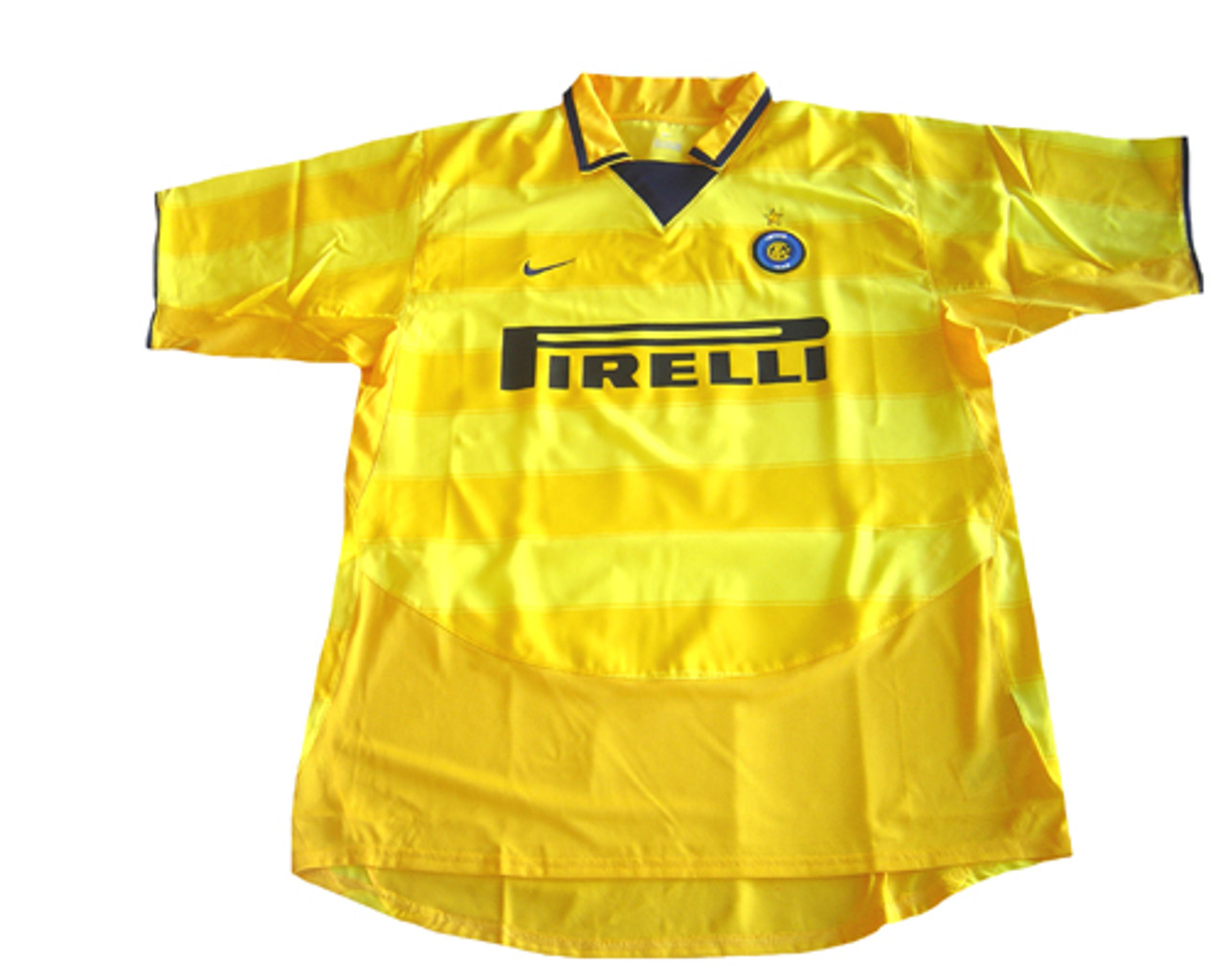 the latest 0f45c d8b57 NIKE INTER MILAN 2004 AWAY JERSEY YELLOW