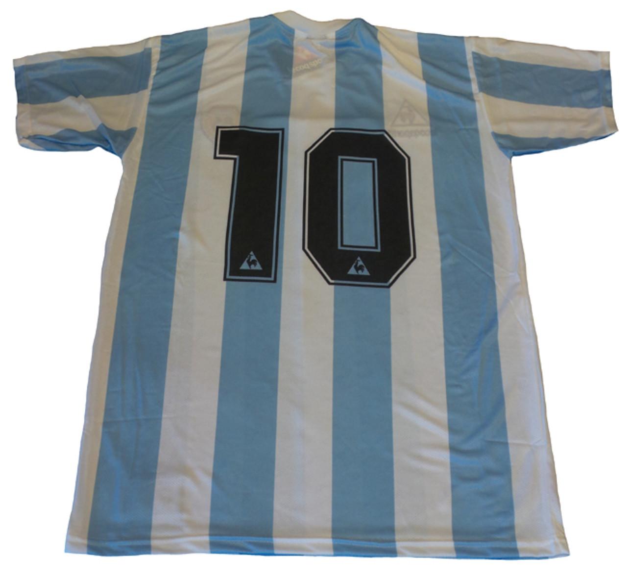 23641f147e6 LE COQ SPORTIF ARGENTINA 1986 MARADONA HOME RETRO JERSEY - Soccer Plus