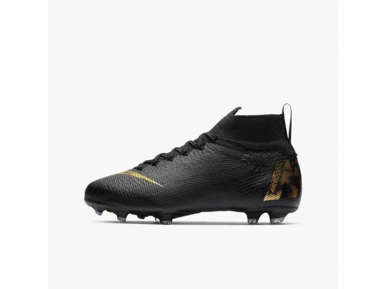 3c29a1d40d0a NIKE JR SUPERFLY 6 ELITE FG BLACK/GOLD - Soccer Plus