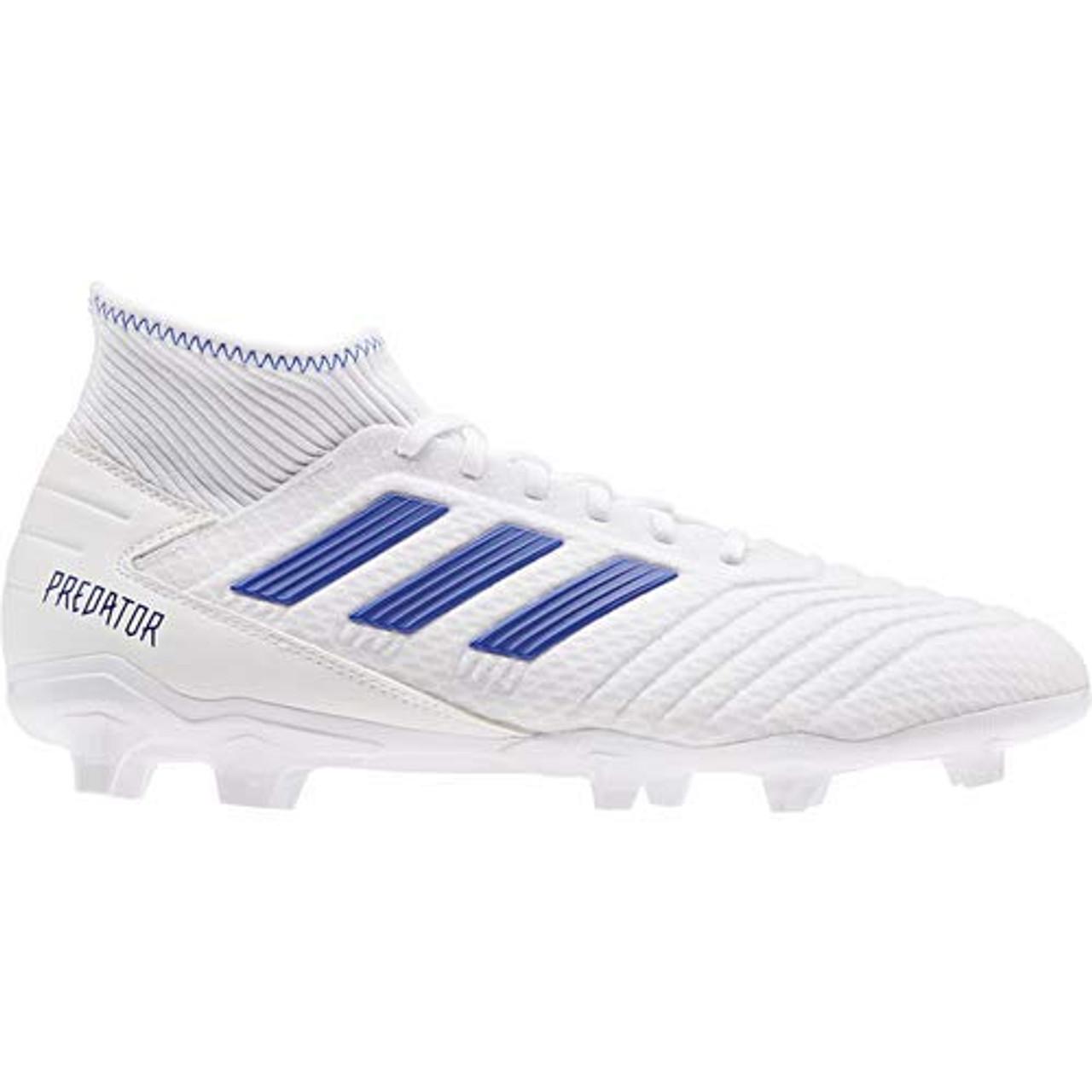 pozo Sada Calor  ADIDAS PREDATOR 19.3 FG WHITE/BLUE - Soccer Plus