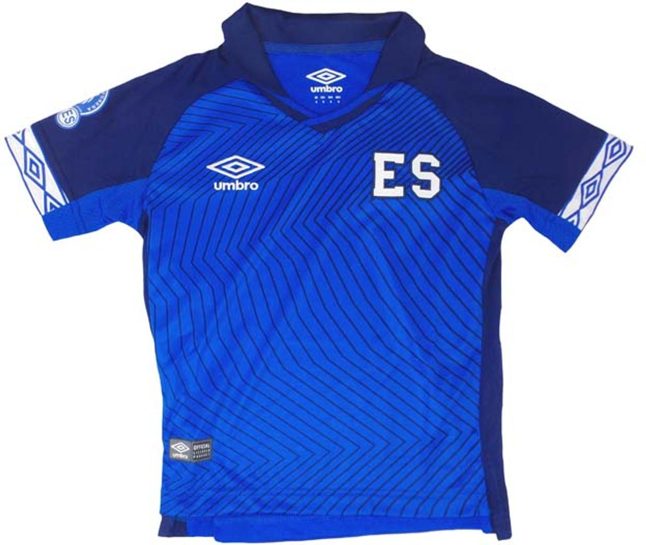 dcb25b13ee4 UMBRO EL SALVADOR 2019 GOLD CUP BOYS JERSEY BLUE - Soccer Plus