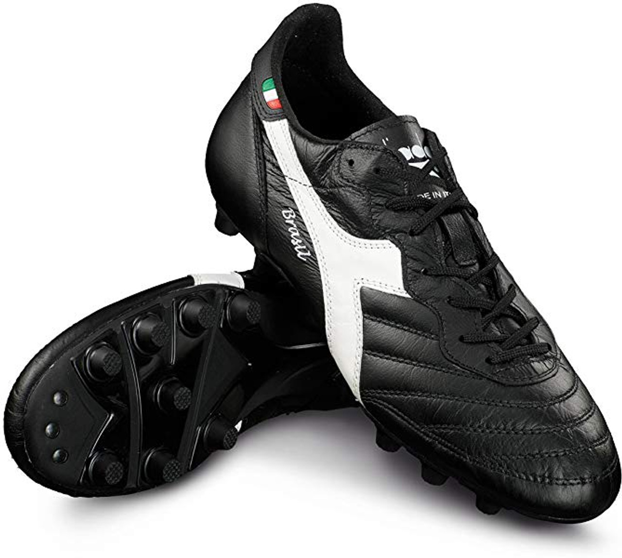 31656cf7 DIADORA BRASIL ITALY OG MD PU Soccer Cleat - Black/White