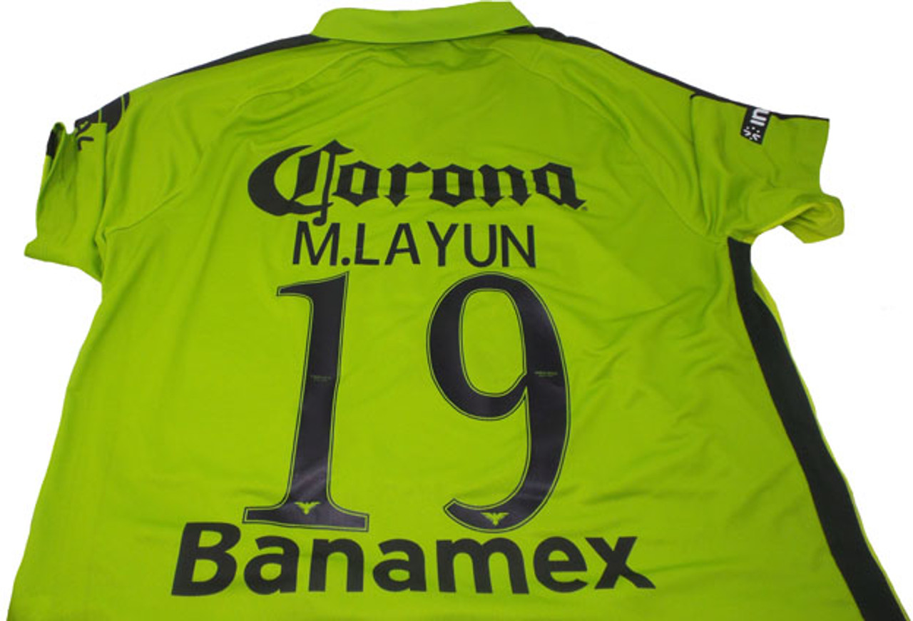 7e9b862cf92 NIKE CLUB AMERICA 2015 AWAY `LAYUN`JERSEY GREEN - Soccer Plus
