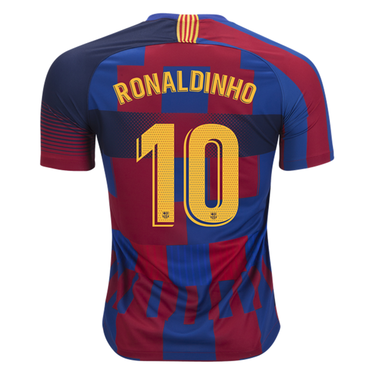 NIKE BARCELONA 2019 AUTHENTIC 20TH ANNIVERSARY `RONALDINHO` JERSEY - Soccer  Plus