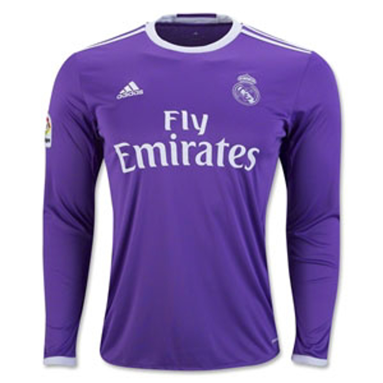 sports shoes 87d06 b7463 ADIDAS REAL MADRID 2017 AWAY L/S PURPLE JERSEY
