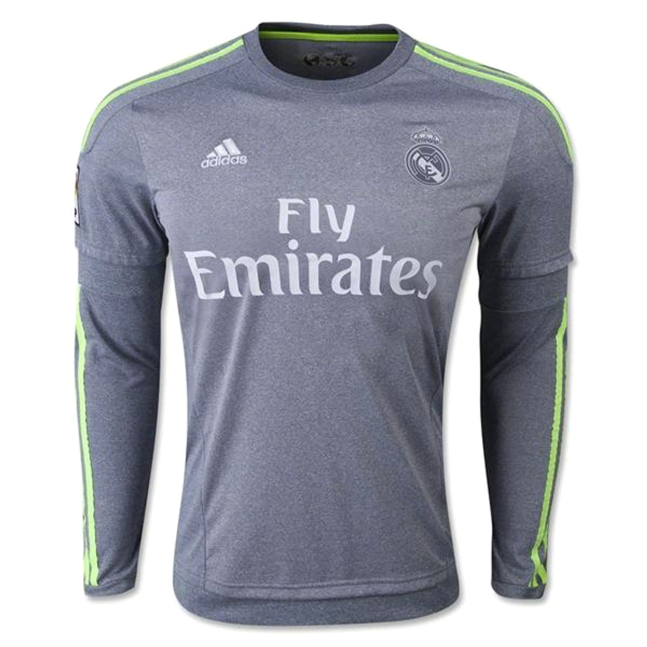 huge discount fedc7 01e63 ADIDAS REAL MADRID 2016 AWAY L/S JERSEY GREY