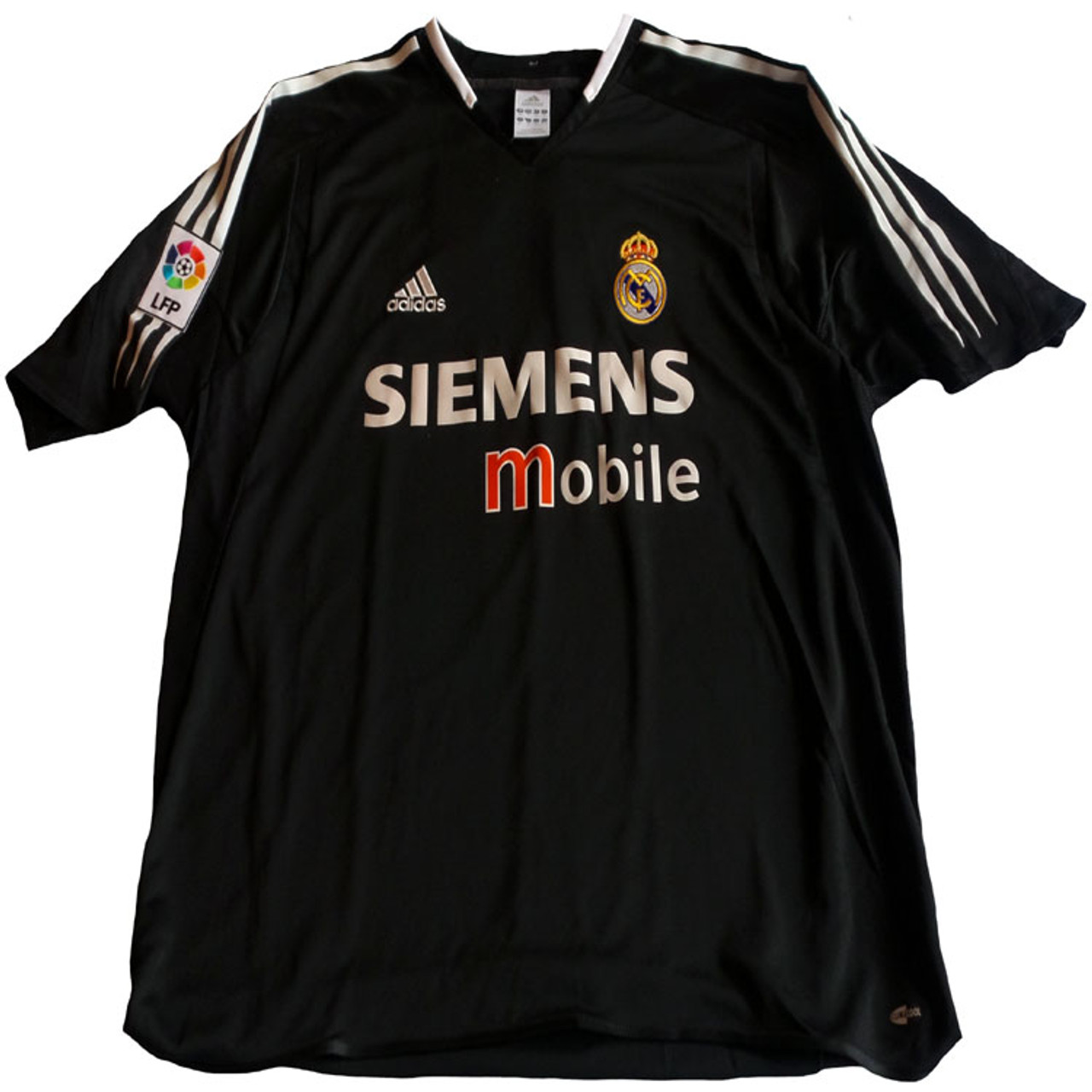 reputable site 2e0d6 860bf ADIDAS REAL MADRID 2005 AWAY JERSEY BLACK