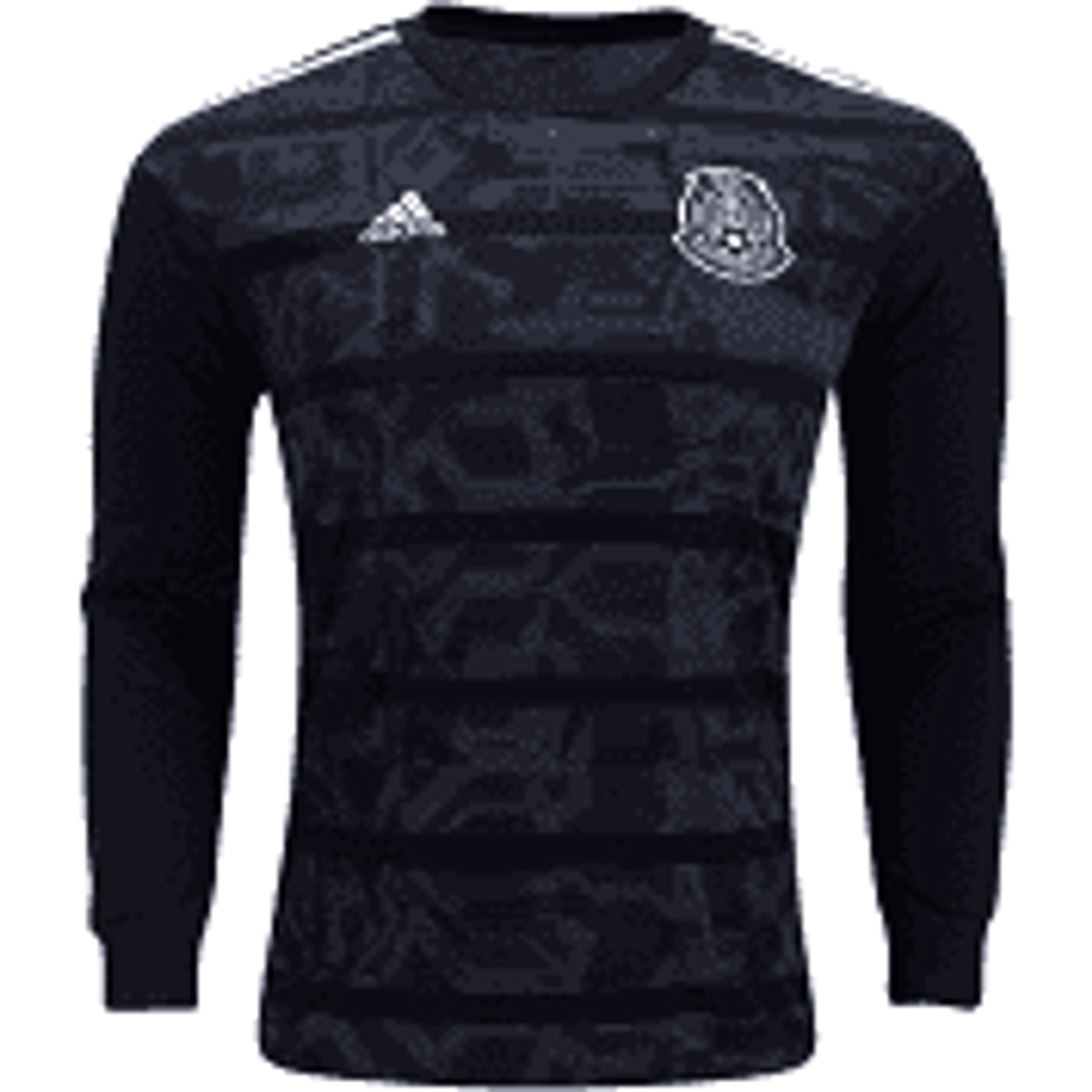 ADIDAS MEXICO 2019 HOME L/S JERSEY BLACK