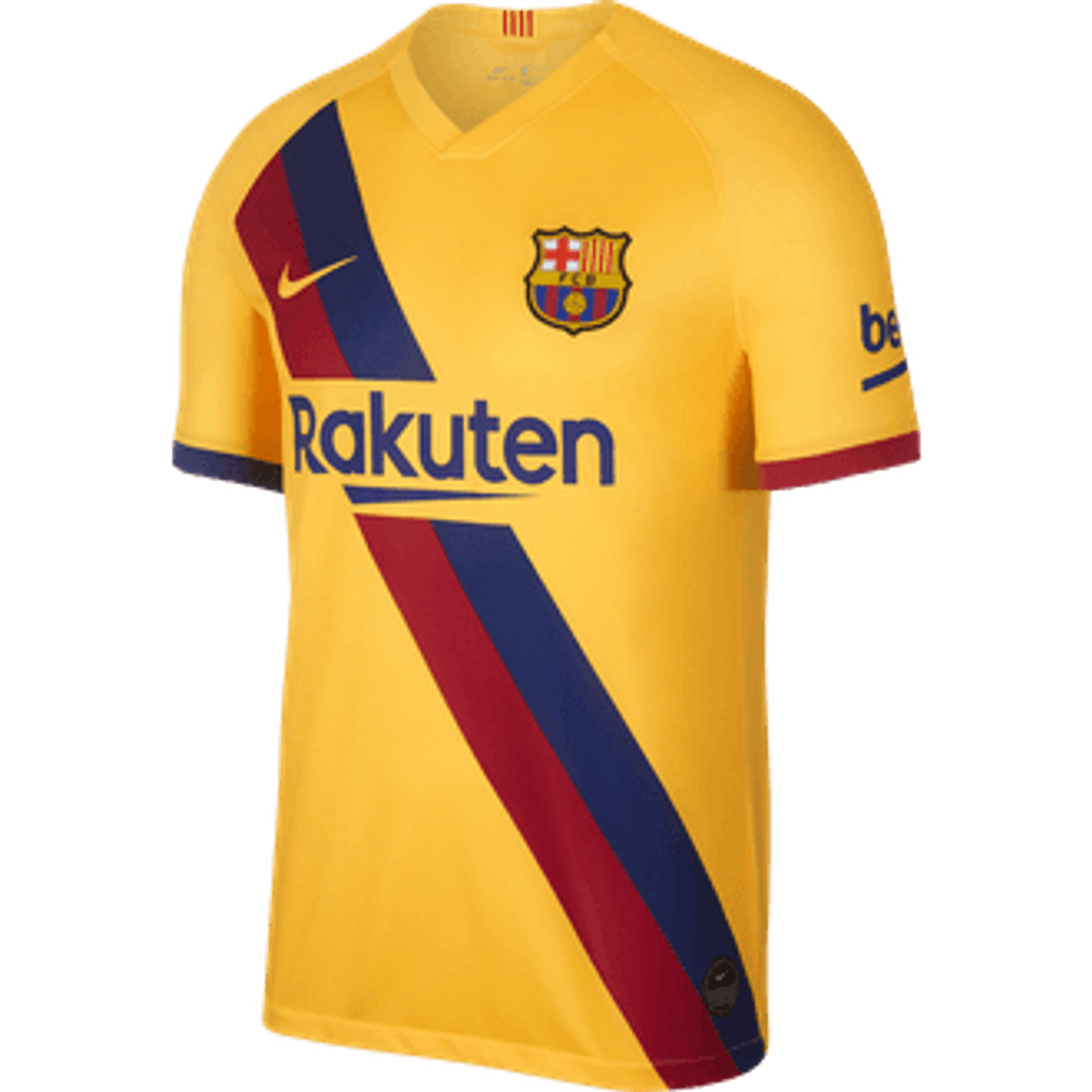 Nike Barcelona 2020 Away Jersey Yellow Soccer Plus