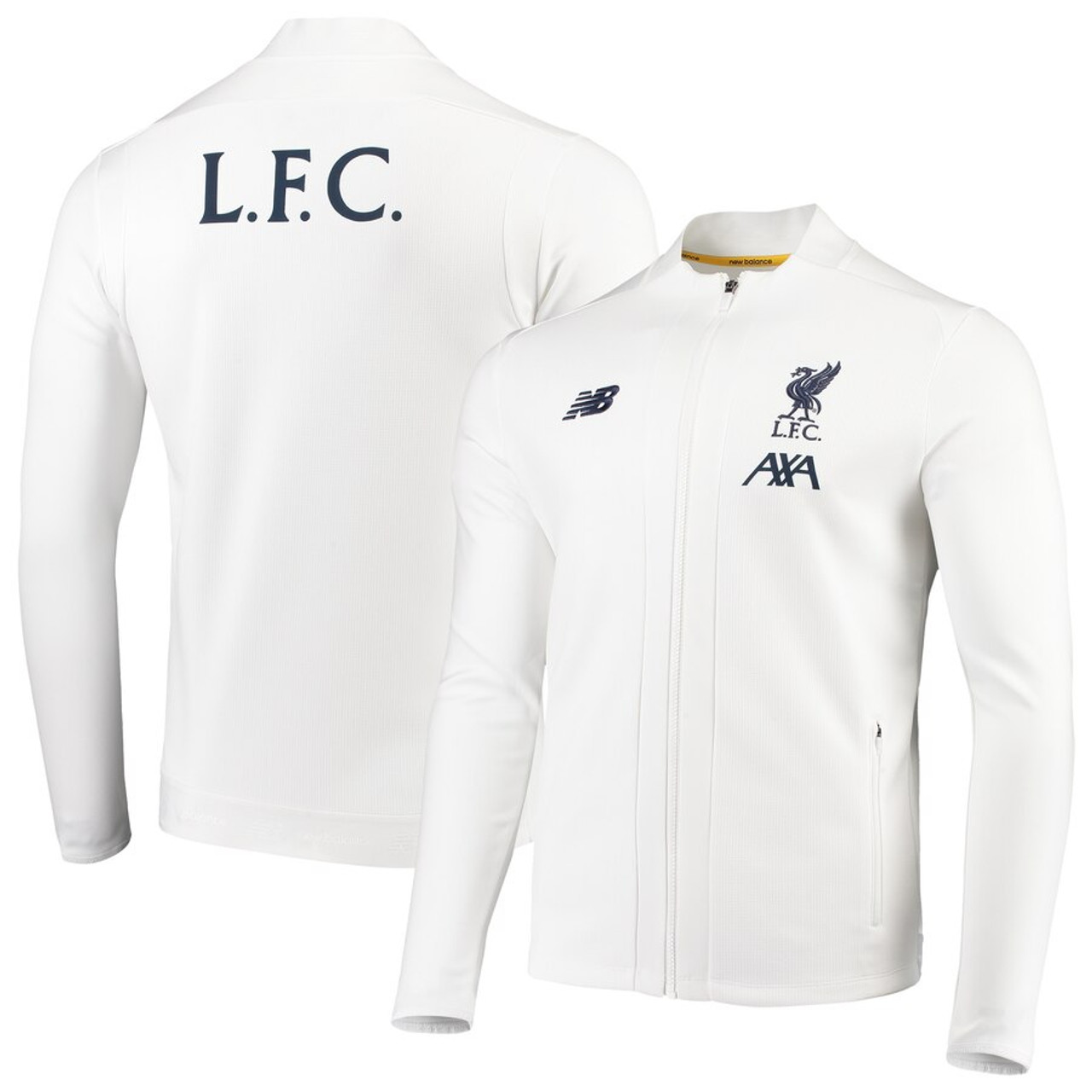 New Balance Liverpool 2020 Pre Game Jacket White Soccer Plus
