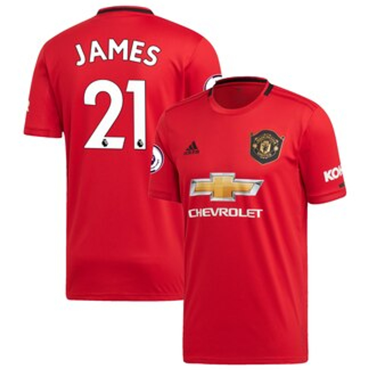 timeless design fb3f9 8cd68 ADIDAS MANCHESTER UNITED 2020 HOME `JAMES`JERSEY