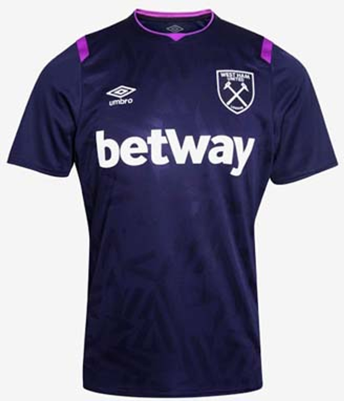 newest 6653d 7a20e UMBRO WEST HAM UNITED 2020 AWAY 3RD JERSEY PURPLE