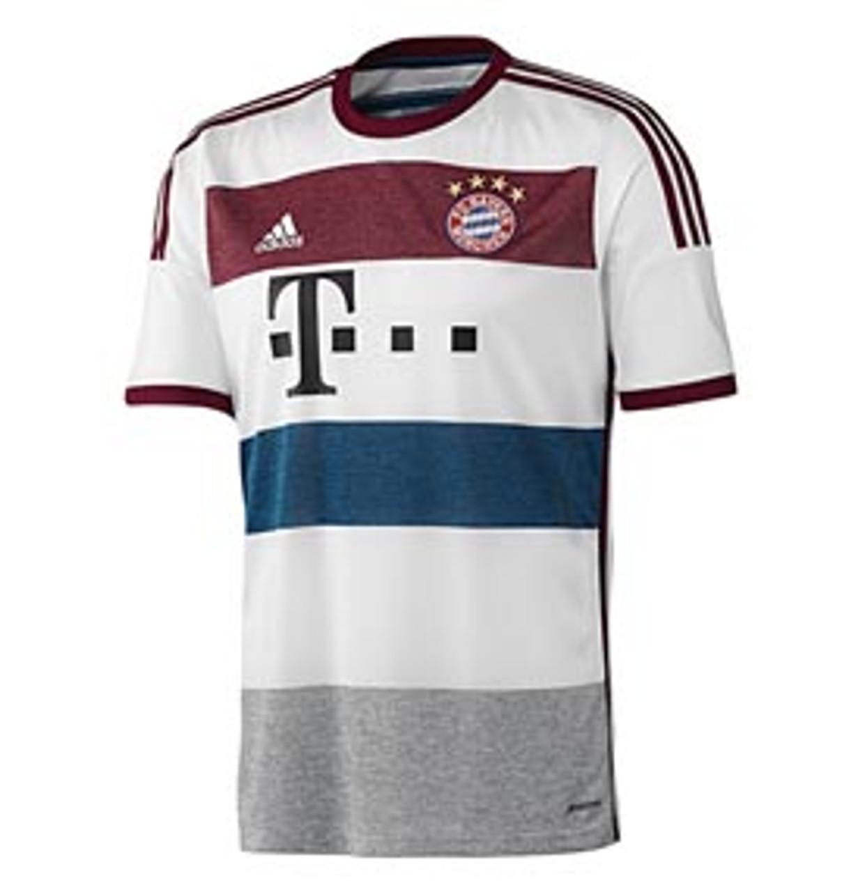 Adidas Fc Bayern Munich 2015 Away Jersey White Soccer Plus