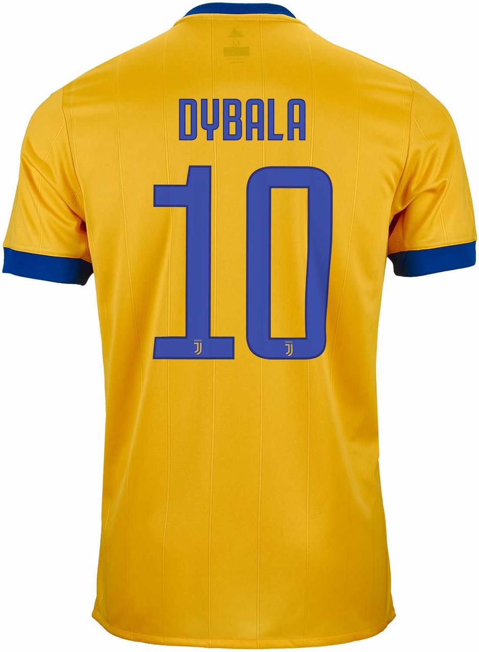 Adidas Juventus 2018 Away Dybala Jersey Yellow Soccer Plus