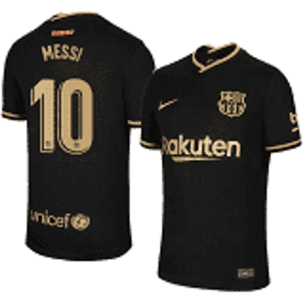 Nike Barcelona 2021 Away Messi Jersey Black Soccer Plus