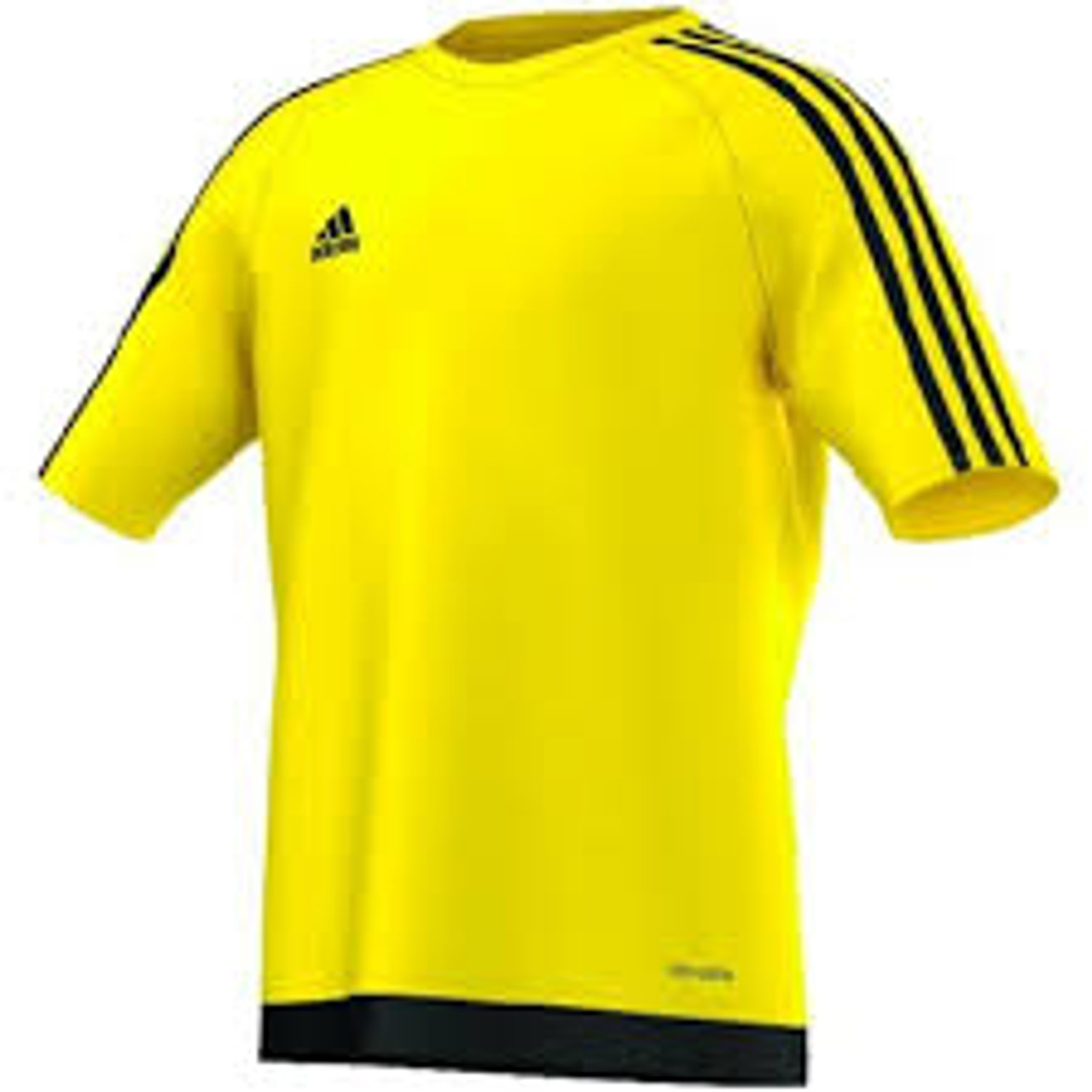 ADIDAS ESTRO 15 YOUTH JERSEY YELLOW soccer team uniform