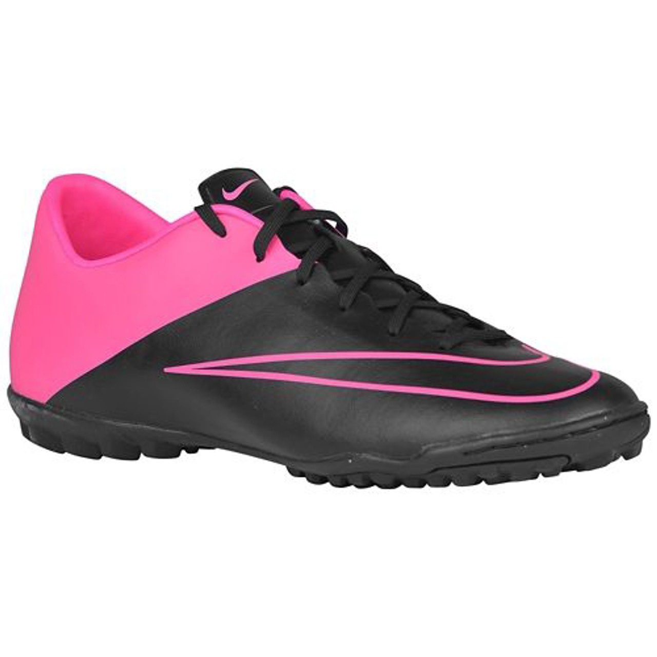 low priced 2a615 17425 NIKE MERCURIAL VICTORY V TF BLACK HYPER PINK turf soccer shoes - Soccer Plus