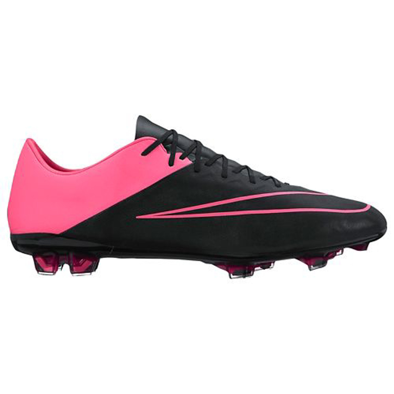 save off 62aed 6f8bc NIKE MERCURIAL VAPOR X LEATHER FG BLACK PINK firm ground shoes - Soccer Plus