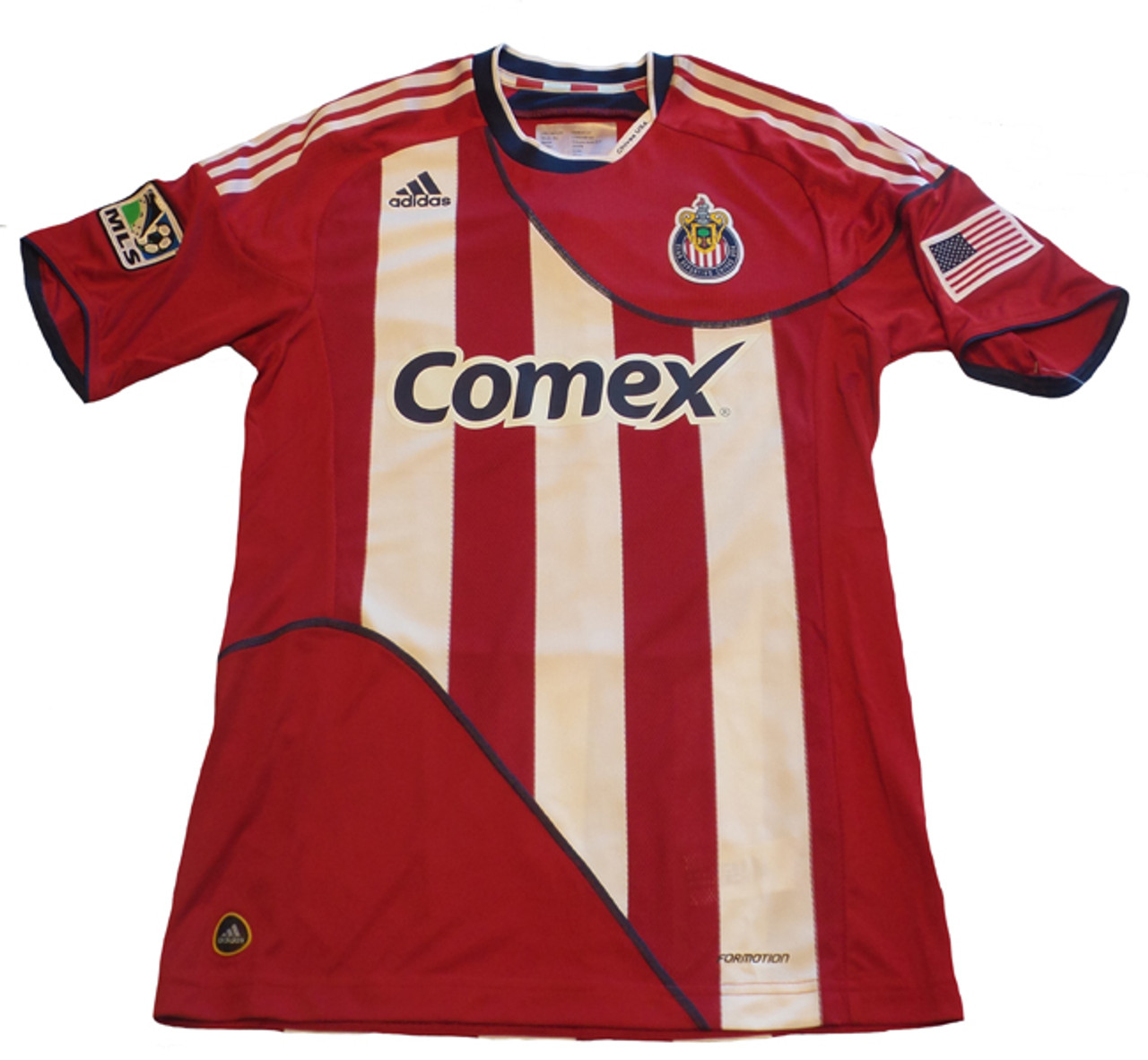 new style 63ded b15d5 ADIDAS CHIVAS US 2010 HOME AUTHENTIC JERSEY