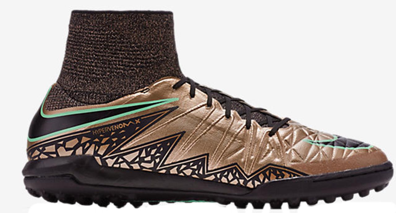 new styles 92a37 6783a NIKE HYPERVENOMX PROXIMO TF metallic bronze turf soccer shoes