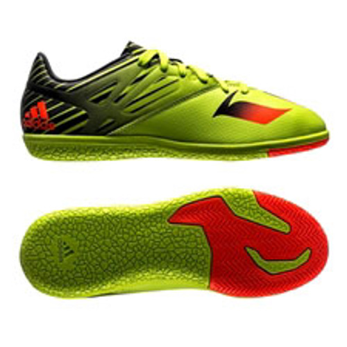 free shipping 421b6 33f7a ADIDAS MESSI 15.3 Junior indoor soccer shoes slime green - Soccer Plus