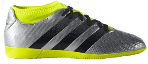 9889da317a6b ADIDAS ACE 16.3 PRIMEMESH Junior indoor soccer soccer shoes silver ...