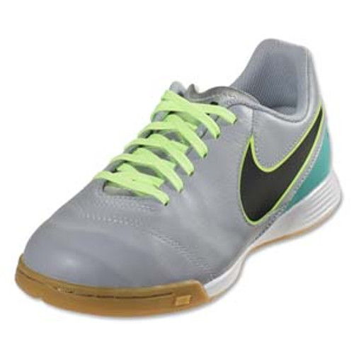 eb5e4383c NIKE TIEMPOX GENIO II LEATHER IC indoor soccer shoes wolf grey/black ...