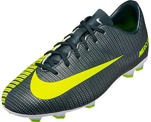 the best attitude 5bd24 0d68b NIKE JR MERCURIAL VAPOR XI CR7 kids firm ground cleats grey/volt