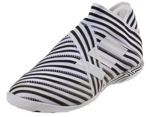 07fe26f7d53a ADIDAS NEMEZIZ 17 360 + AGILITY JR. INDOOR white black - Soccer Plus