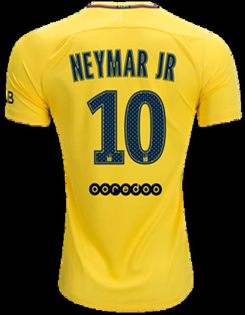 3dc344c29ab NIKE PARIS SAINT GERMAIN 2018 NEYMAR YELLOW JERSEY - Soccer Plus