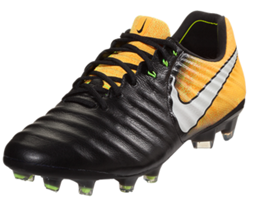 NIKE TIEMPO LEGEND VII FG BLACK LASER ORANGE - Soccer Plus be9edfa11