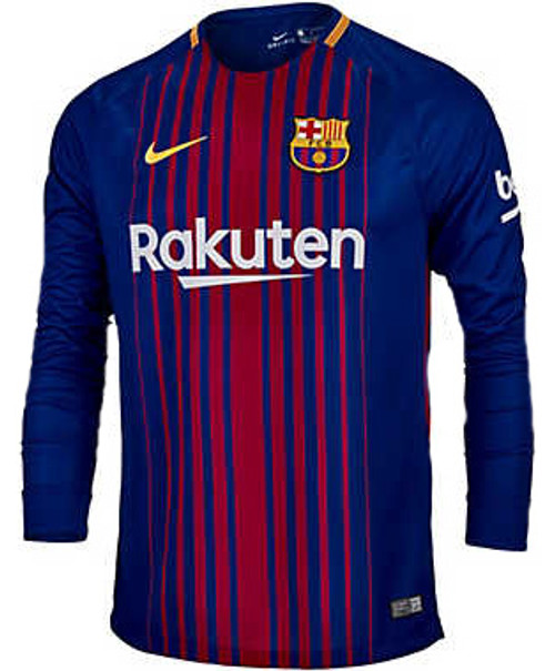 f45944a96 NIKE BARCELONA 2018 HOME L S JERSEY - Soccer Plus