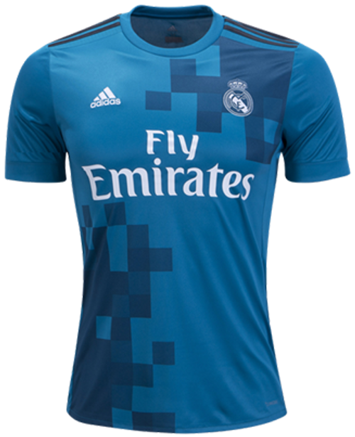 brand new 6ddbc b5db7 ADIDAS REAL MADRID 2018 3RD JERSEY teal blue