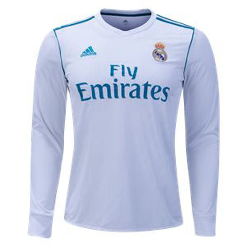 check out 26c0d ea4e1 ADIDAS REAL MADRID 2018 L/S HOME JERSEY