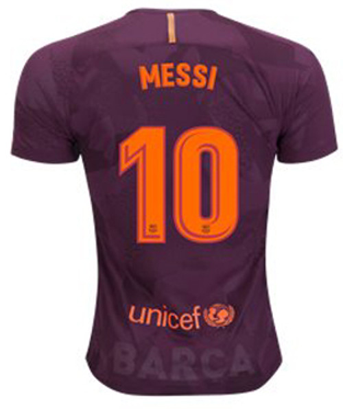 premium selection 20d44 c5a42 NIKE BARCELONA 2018 AUTHENTIC MESSI 3RD JERSEY MAROON