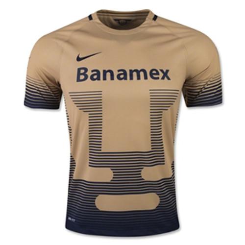 reputable site 1d61f 0c2da NIKE PUMAS UNAM 2016 GOLD JERSEY