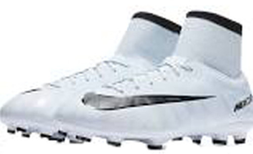 b4fd01325 NIKE JR MERCURIAL VICTORY VI CR7 DF FG White Black Blue Tint ...