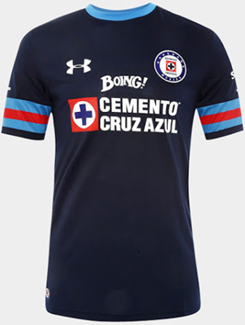 50dfc188b83 UNDER ARMOUR CRUZ AZUL 2017 AWAY BLUE JERSEY - Soccer Plus